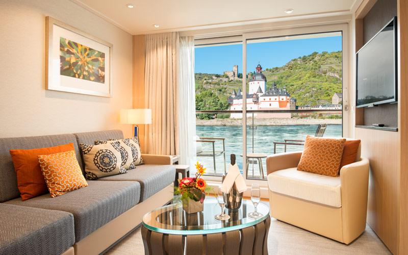 Veranda suite on Viking Hild