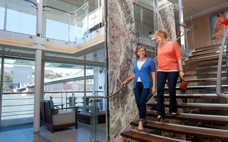 Viking River Cruises Viking Kara atrium