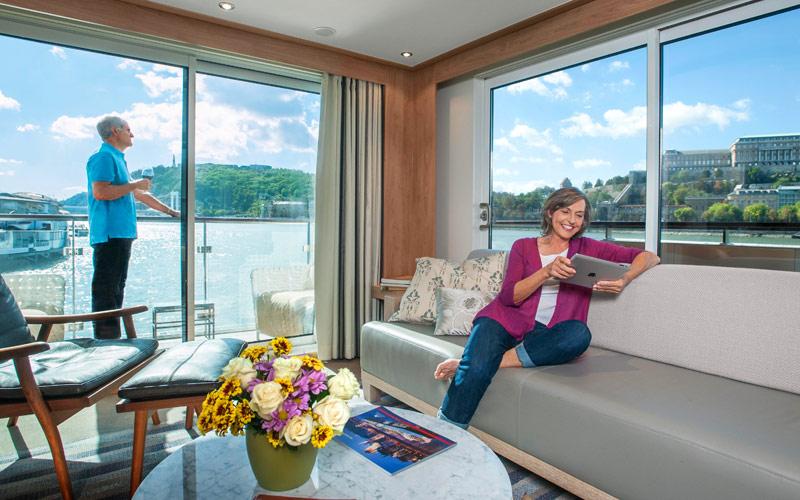 Viking River Cruises Viking Mimir explorer suite