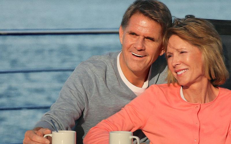 Viking River Cruises Viking Ve sundeck couple