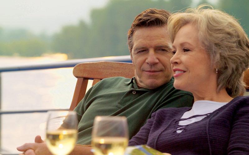 Viking River Cruises Viking Prestige couple on dec