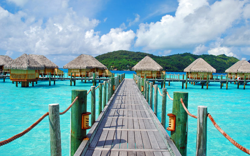 Water bungalows Tahiti