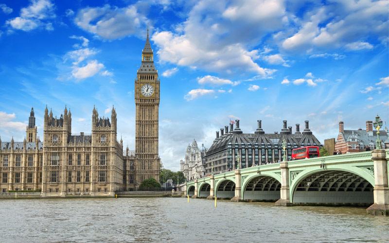 Westminster Bridge Parliament London England