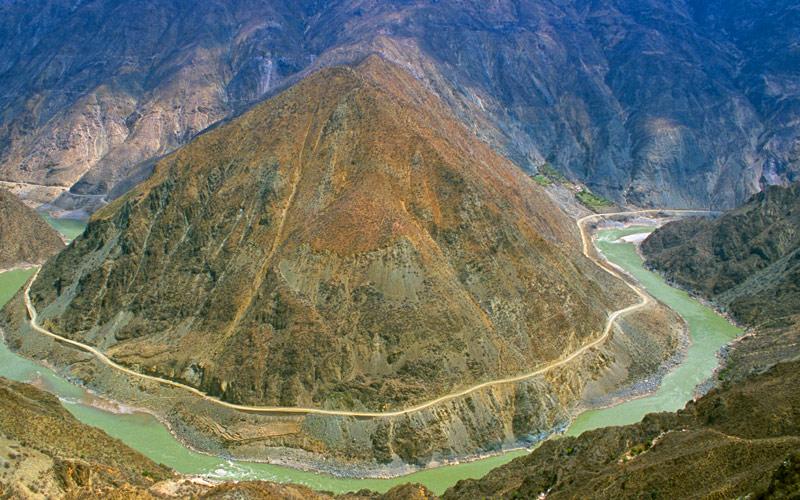 Yangtze River in Yunnan Province China