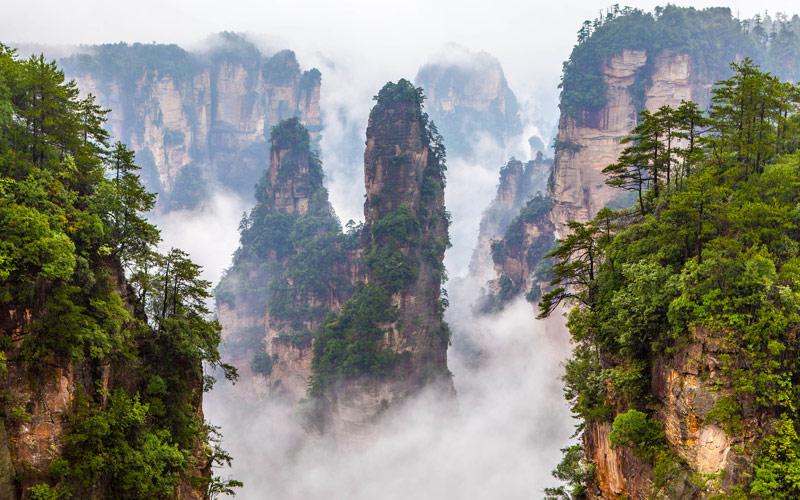 Zhangjiajie National Park in China Hunan Province