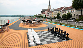 Sun Deck Chess aboard AmaCello