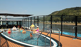 Sun Deck Pool and Bar aboard AmaCerto