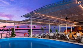 Sun Deck pool aboard AmaDara