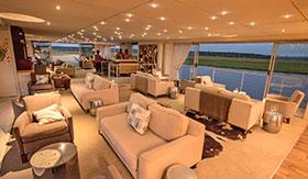 Lounge aboard Zambezi Queen