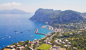 Azamara Club Cruises coastline of Capri