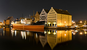Azamara Club Cruises Vistula River in historic city Gdansk Poland