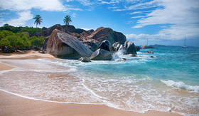 Azamara Club Cruises the baths landmark Virgin Gorda Tortola