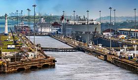 Azamara Club Cruises view of the Panama Canal