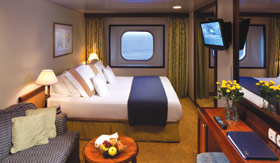 Azamara staterooms Club Oceanview stateroom