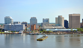 Carnival Cruise Lines city skyline of Norfolk, Virginia