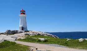Carnival Cruise Lines lighthouse in Peggys Cove
