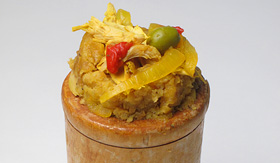Carnival Cruise Lines Mofongo plantain dish from Puerto Rico