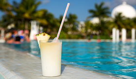 Carnival Cruise Lines pinacolada tropical drink