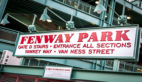 Carnival Cruise Lines The Fenway Park Stadium Sign in Boston, Massachusetts