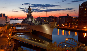 Carnival Cruise Lines USS Wisconsin Battleship in Norfolk, Virginia