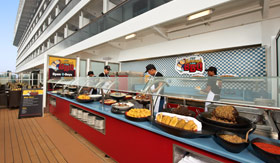 Carnival dining Fat Jimmys C Side BBQ