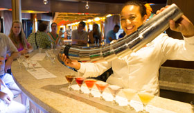 Carnival onboard activities Alchemy Bar