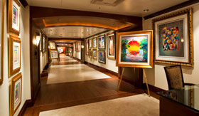 Carnival onboard activities Art- Gallery