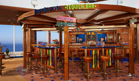 Carnival onboard activities Blue Iguana tequila-bar