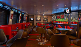 Carnival onboard activities Skybox Sports Bar