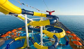 Carnival onboard activities Waterworks