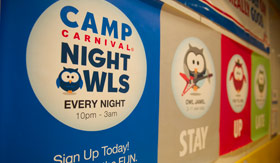 Carnival youth programs Camp Carnival Night Owls