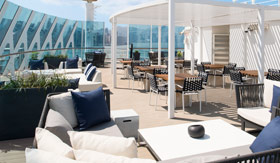 Lounge chairs on the Sun Deck aboard Celebrity Millennium