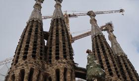 Spires of La Sagrada Familia
