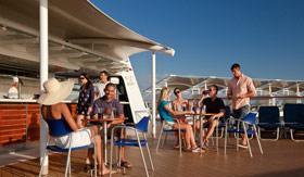 Celebity onboard activities Pool Mast Bar