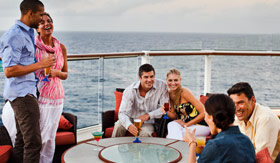 Celebity onboard activities Sunset Bar