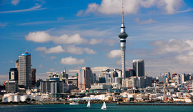 Celebrity Cruises aerial view of Auckland Harbour