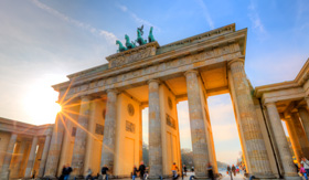 Celebrity Cruises Brandenburg gate at sunset Berlin