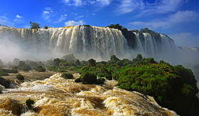 Celebrity Cruises brazilian side at the Iguazu Falls