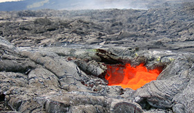 Celebrity Cruises close up view of Hawaii volcanoes