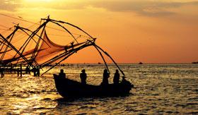 Fishing in Cochin, India