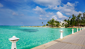 Celebrity Cruises dock at Rum Point Grand Cayman