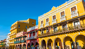 Celebrity Cruises facades of buildings in Cartagena Colombia
