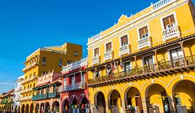 Celebrity Cruises facades of buildings in Cartagena Colombia