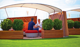 Celebrity Cruises Lawn Club Alcoves