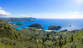 Celebrity Cruises Paleokastritsa in Corfu Greece