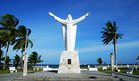 Celebrity Cruises statue of Christ in Colon Panama