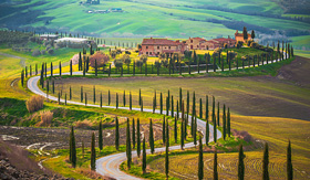 Celebrity Cruises Sunny fields of Tuscany, Italy