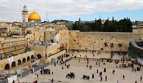 Celebrity Cruises Wailing Wall in Jerusalem Israel