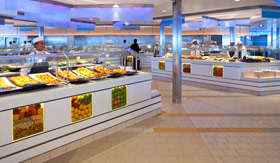 Celebrity dining Oceanview Cafe