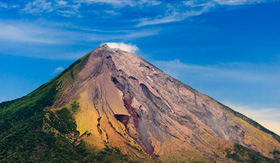 Concepcion Volcano in Ometepe, Nicaragua